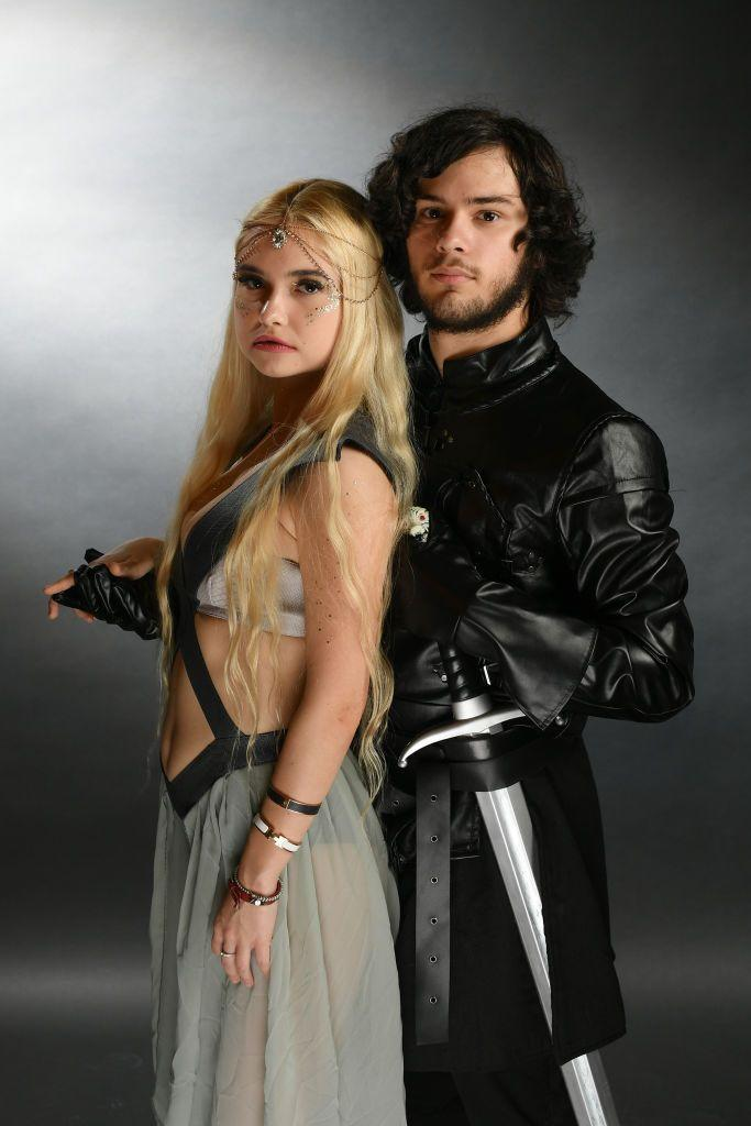 """<p>Who doesn't love <a href=""""https://www.womansday.com/style/g28762544/diy-game-of-thrones-halloween-costumes/"""" rel=""""nofollow noopener"""" target=""""_blank"""" data-ylk=""""slk:Game of Thrones costumes"""" class=""""link rapid-noclick-resp""""><em>Game of Thrones </em>costumes</a>? You'll be the fiercest duo at the party if you dress up as Daenerys Targaryen and Jon Snow.</p><p><a class=""""link rapid-noclick-resp"""" href=""""https://www.amazon.com/Clothink-Womens-Light-Multi-Way-Convertible/dp/B06XSBGVVF?tag=syn-yahoo-20&ascsubtag=%5Bartid%7C10070.g.1923%5Bsrc%7Cyahoo-us"""" rel=""""nofollow noopener"""" target=""""_blank"""" data-ylk=""""slk:SHOP BLUE DRESS"""">SHOP BLUE DRESS</a></p><p><a class=""""link rapid-noclick-resp"""" href=""""https://www.amazon.com/1stvital-Costume-Knights-Cosplay-Halloween/dp/B01G3JE8QI?tag=syn-yahoo-20&ascsubtag=%5Bartid%7C10070.g.1923%5Bsrc%7Cyahoo-us"""" rel=""""nofollow noopener"""" target=""""_blank"""" data-ylk=""""slk:SHOP BLACK CAPE"""">SHOP BLACK CAPE</a></p>"""