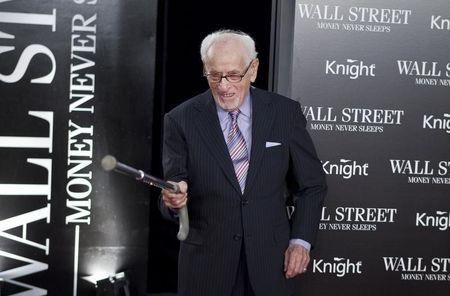 "Eli Wallach arrives for the premiere of the film ""Wall Street: Money Never Sleeps in New York"""