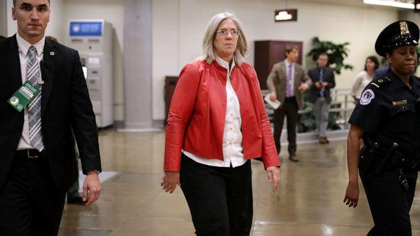 PHOTO: Principal Deputy Director of National Intelligence Sue Gordon arrives for a briefing at the U.S. Capitol, May 24, 2018, in Washington. (Chip Somodevilla/Getty Images, FILE)