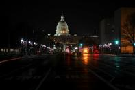 A view shows a road leading to the U.S. Capitol in Washington
