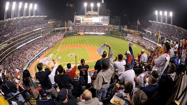 Cleveland Indians fans heckle Detroit during game