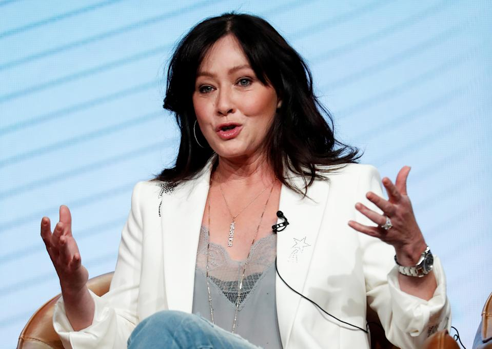 Shannen Doherty is trying to change the narrative on what living with cancer looks like. (REUTERS/Mario Anzuoni
