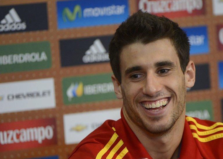 Javi Martinez attends a news conference in Gniewino, Poland on June 21, 2012