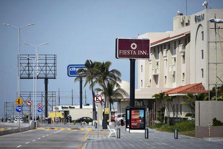 The Fiesta Inn and City Express hotels are pictured in Boca del Rio, Veracruz, Mexico February 11, 2018. Picture taken February 11, 2018. REUTERS/Yahir Ceballos