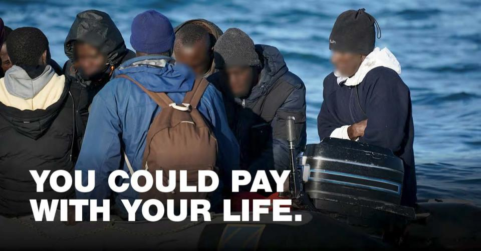 One of the ads migrants will see on social media
