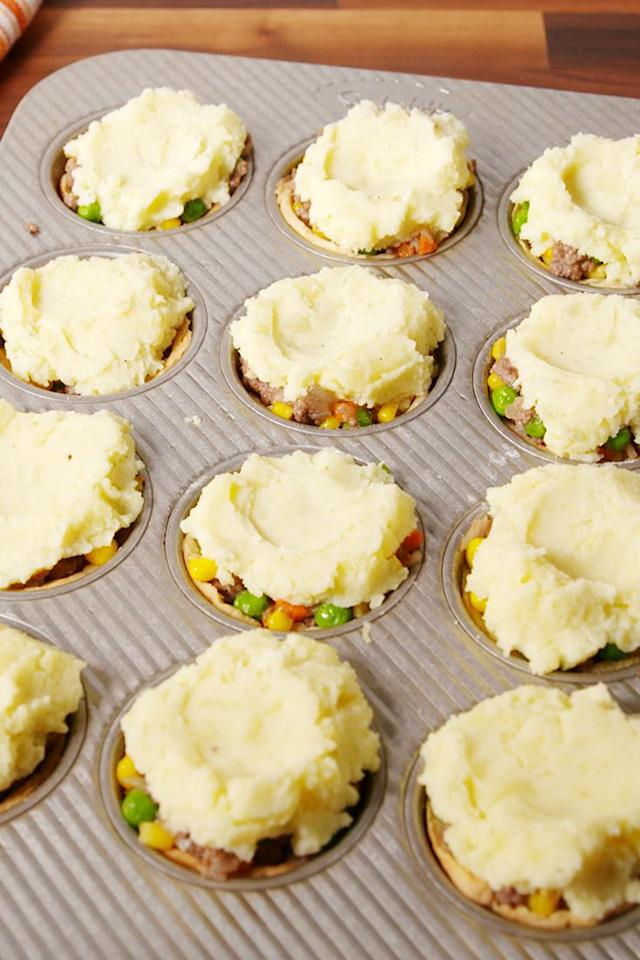 """<p>Herd of sheep not included.</p><p>Get the recipe from <a rel=""""nofollow"""">Delish</a>.</p><p><strong><a rel=""""nofollow"""" href=""""https://www.amazon.com/Wilton-Recipe-Nonstick-12-Cup-Regular/dp/B003W0UMPI/"""">BUY NOW</a><em> Nonstick Muffin Pan, $9, amazon.com</em></strong><br></p>"""