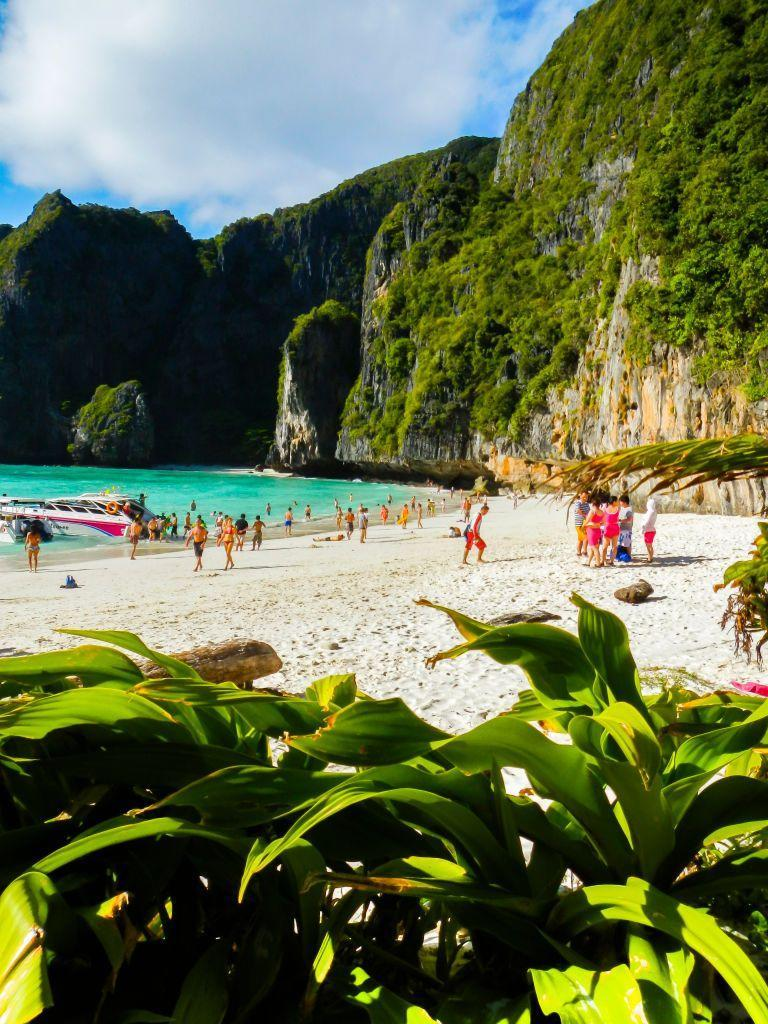 <p>After this secluded beach on Phi Phi Island was featured in the 1999 movie <em>The Beach</em> it became wildly popular with tourists. Visit in the early morning to avoid the crowds.</p>