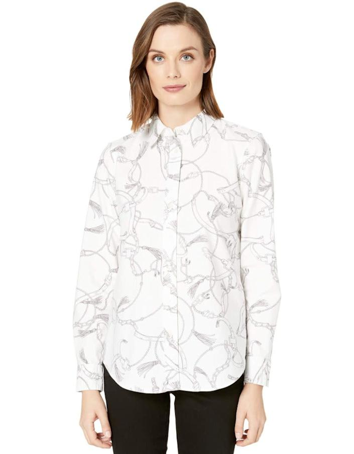 """This top comes in sizes XS to XL. <a href=""""https://fave.co/37bgbkI"""" rel=""""nofollow noopener"""" target=""""_blank"""" data-ylk=""""slk:Find it at Zappos for $90"""" class=""""link rapid-noclick-resp"""">Find it at Zappos for $90</a>."""