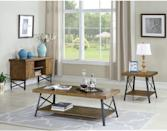 <p>This <span>Emerald Home Chandler Coffee Table</span> ($189) will blend well with your farmhouse decor, thanks to the distressed wood and metal accents, which together convey a rustic look.</p>