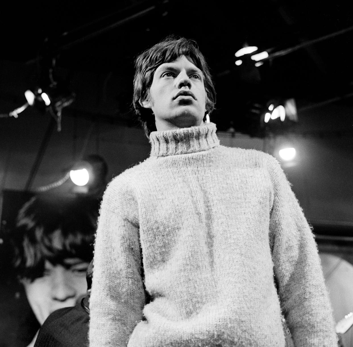 The rock 'nroll star during a rehearsal in 1965.