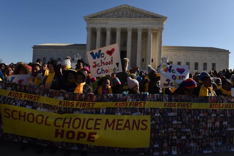 The Supreme Court is inundated with cases challenging limits on religious freedom, including one on religious school choice heard by the justices in January.