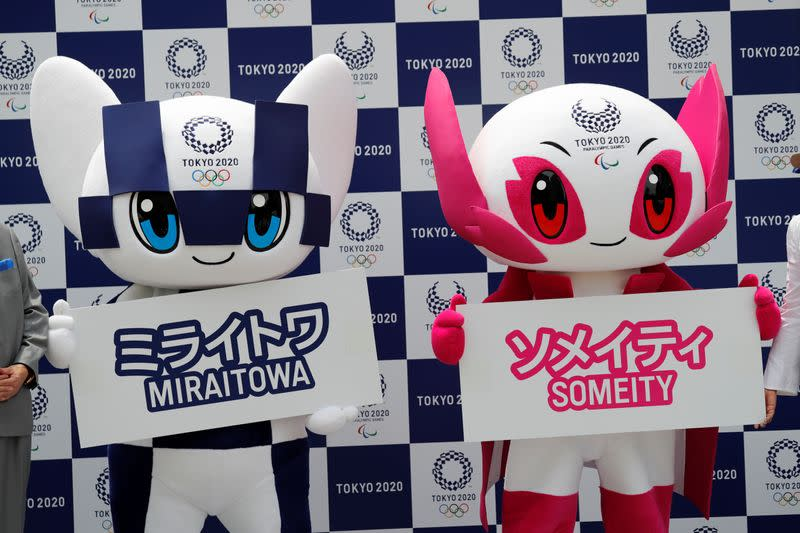 Olympics: With handclaps, help from Backstreet Boys, Tokyo mascots jet off to Europe