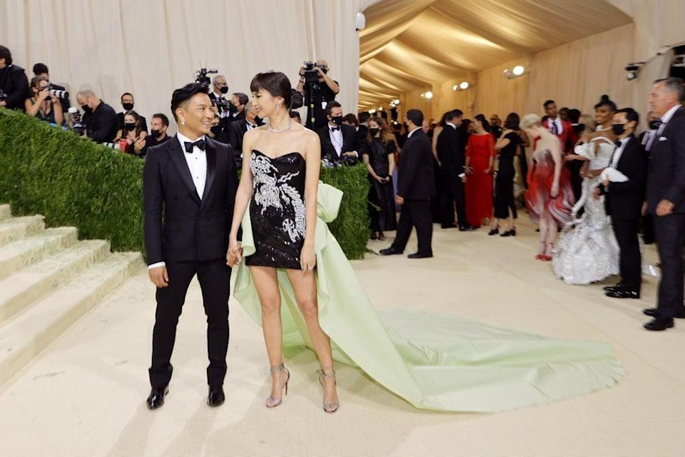 Prabal Gurung and Gemma Chan (Getty Images)