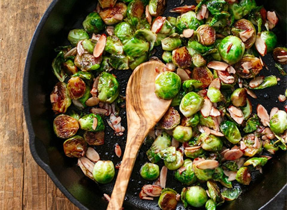tart cherry glazed brussels sprouts