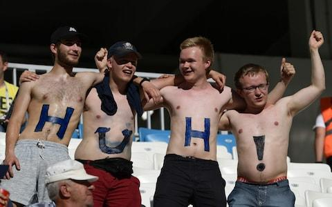 Iceland fans inside the stadium - Credit: Getty images