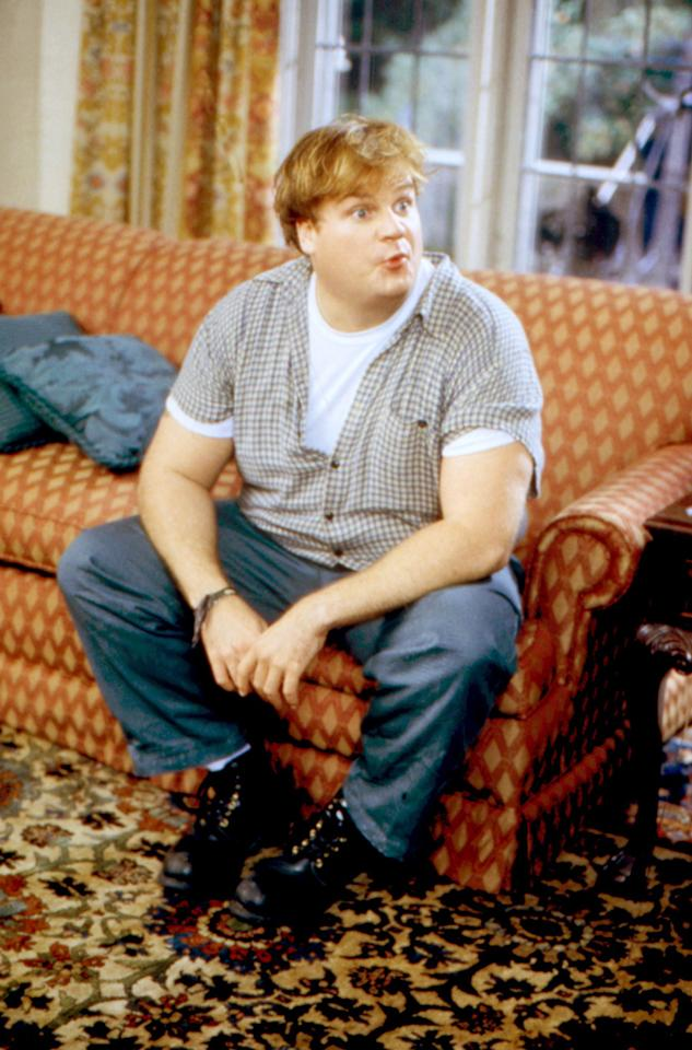 """1964  Chris Farley was born on this day in Madison, Wisconsin. After starting in sketch comedy, Chris went on to star in some of the best comedies of the '90s. Sadly, Chris died at 33, the same age as his idol and fellow """"Saturday Night Live"""" alum, John Belushi."""