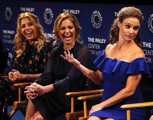<p>The <i>Fuller House</i> stars chatted about the show's upcoming third season at the Paley Center in Beverly Hills. The Sept. 22 premiere date falls on the 30th anniversary of the Tanners and Kimmy Gibbler coming into our lives, so these ladies have shared a lot of laughs. (Photo: David Livingston/Getty Images) </p>
