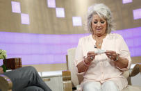 """In this publicity image released by NBC, celebrity chef Paula Deen appears on NBC News' """"Today"""" show, wednesday, June 26, 2013 in New York. Deen dissolved into tears during a """"Today"""" show interview Wednesday about her admission that she used a racial slur in the past. The celebrity chef, who had backed out of a """"Today"""" interview last Friday, said she was not a racist and was heartbroken by the controversy that began with her own deposition in a lawsuit. Deen has been dropped by the Food Network and as a celebrity endorser by Smithfield Foods. (AP Photo/NBC, Peter Kramer)"""