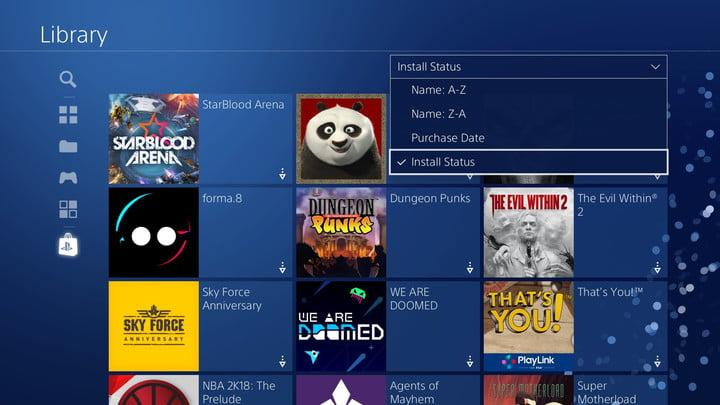 how to organize ps4 game library 20180110124349