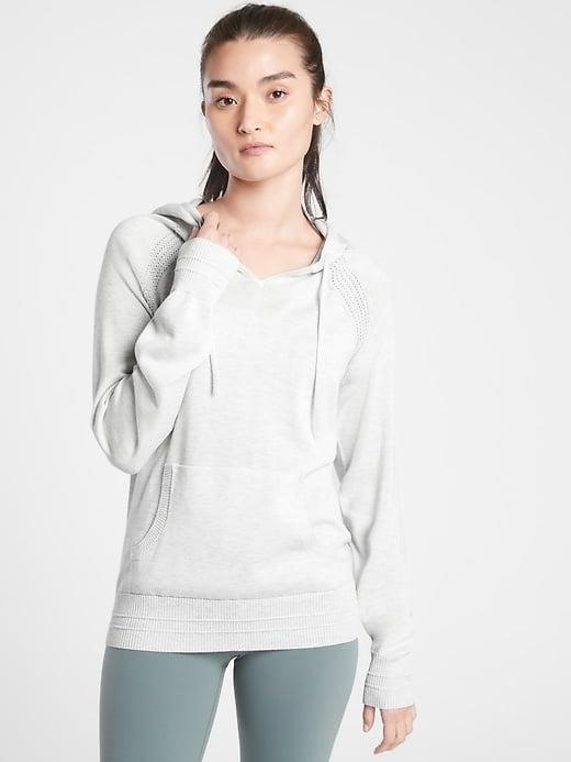 <p>Slip on this <span>Athleta Evergreen Hoodie Sweater</span> ($129) when you want a top that looks like a hoodie but feels like a sweater.</p>