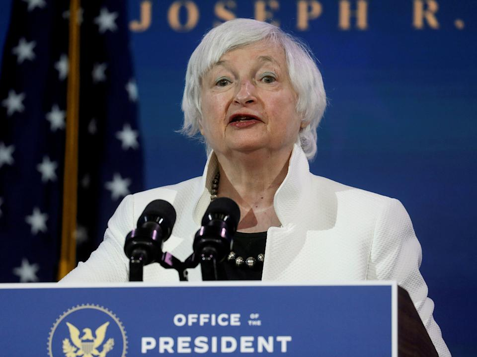 Janet Yellen, US president Joe Biden's pick for Treasury secretary, has said the new administration will prioritise fixing the US economy before embarking on any new free trade agreements (REUTERS)