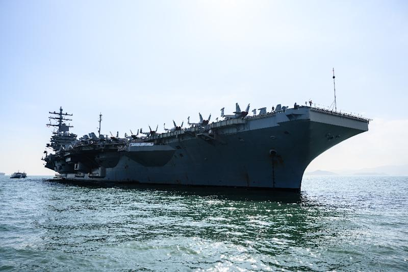 United States carrier visits Hong Kong amid heightened China tensions