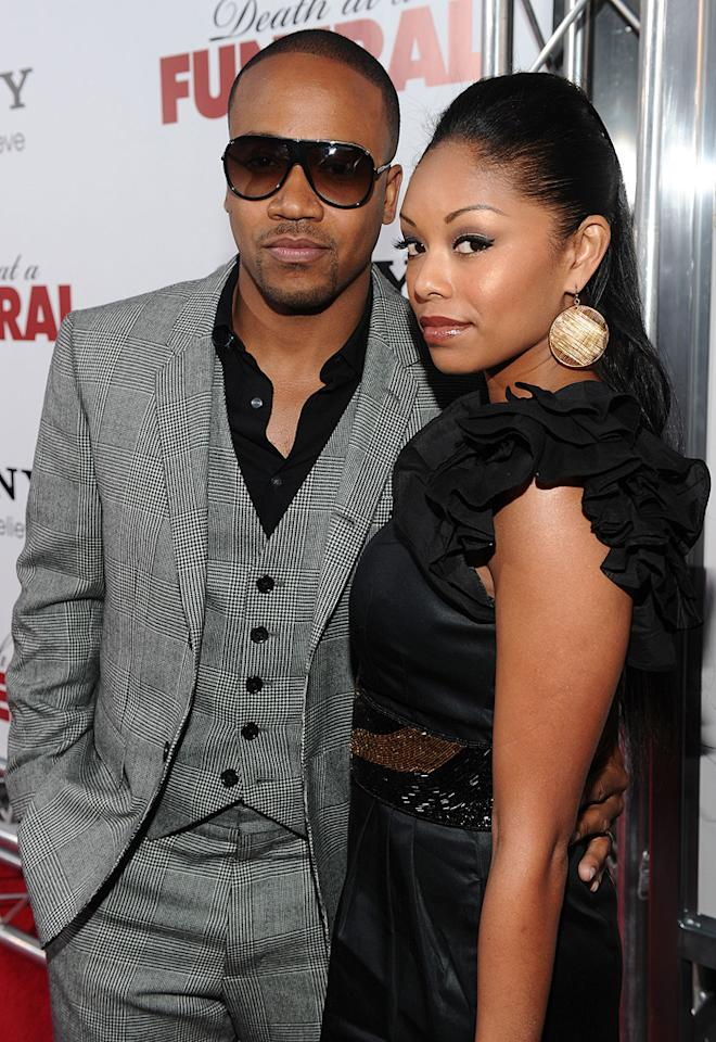 """<a href=""""http://movies.yahoo.com/movie/contributor/1809177013"""">Columbus Short</a> and guest at the Los Angeles premiere of <a href=""""http://movies.yahoo.com/movie/1810077967/info"""">Death at a Funeral</a> - 04/12/2010"""