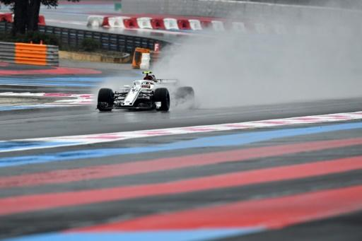 Water performance! Sauber  driver Charles Leclerc in action at the Paul Ricard circuit on Saturday