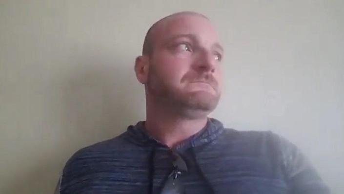 """Christopher Cantwell posted a lengthy video online after the violence in Charlottesville, claiming he was """"terrified"""" that the police were going to kill him, becoming visibly emotional throughout."""
