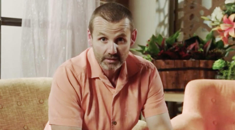 Ryan Moloney in character as Toadie on the Neighbours set