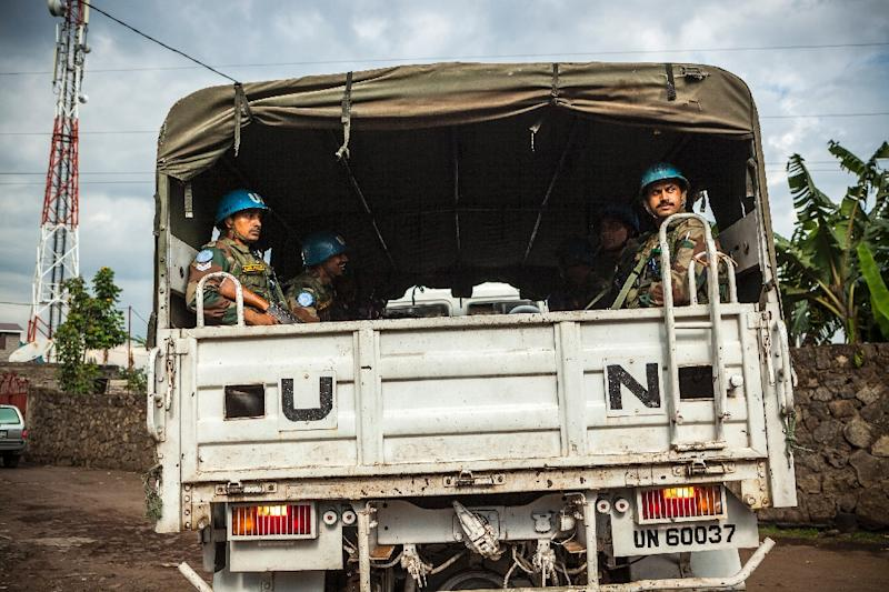 The UN has more than 15,000 peacekeepers operating in Democratic Republic of Congo who are part of the MONUSCO force (AFP Photo/Eduardo Soteras)