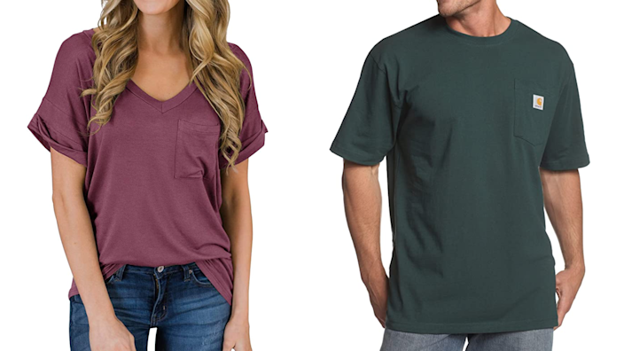The roomier, the better when it comes to your T-shirt.