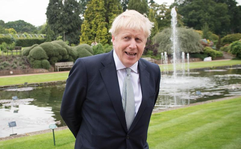 Conservative party leadership candidate Boris Johnson during a tour of the RHS (Royal Horticultural Society) garden at Wisley, in Surrey. (Photo: PA Wire/PA Images)