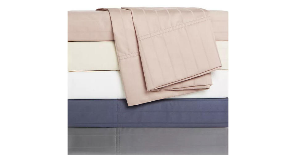 Nestwell Pima Cotton Sateen Striped 500-Thread-Count Sheet Set (Photo: Bed Bath & Beyond)