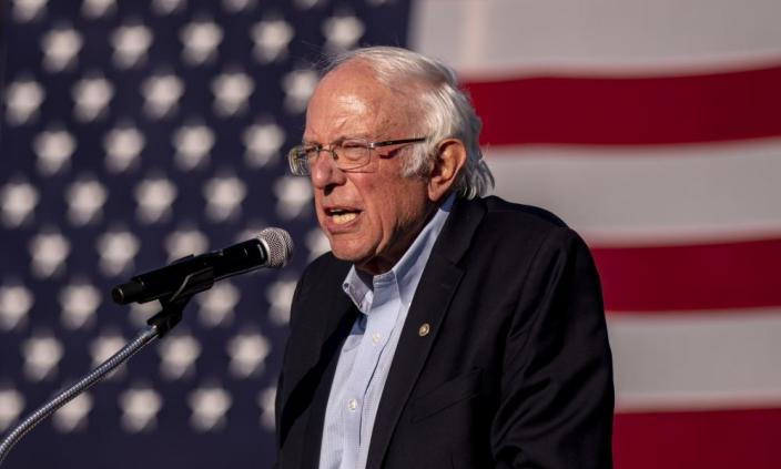 Senator Bernie Sanders, 79, showed that age is no barrier to campaigning.