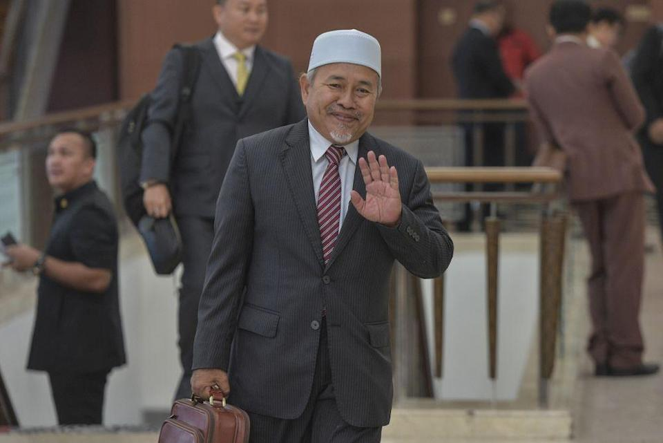 Tuan Ibrahim said PAS declined to join Barisan Nasional's Perlis state government. — Picture by Shafwan Zaidon