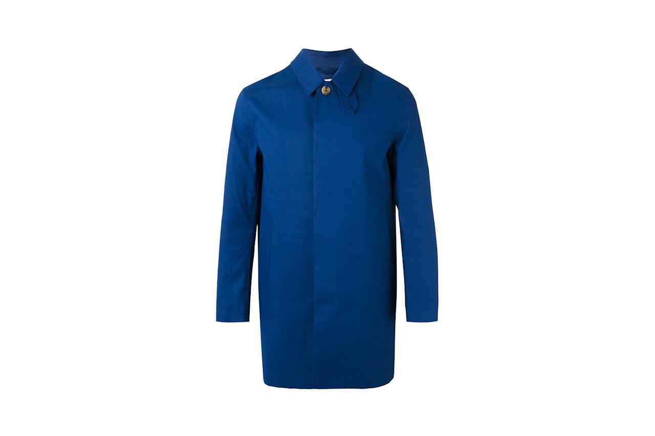 "<p>$1,152, buy now at <a rel=""nofollow"" href=""https://www.farfetch.com/shopping/men/mackintosh-button-up-raincoat-item-11973024.aspx?fsb=1&mbid=synd_yahoostyle&storeId=9475&utm_campaign=Linkshareus&utm_content=10&utm_medium=affiliate&utm_source=J84DHJLQkR4&utm_term=USNetwork"">farfetch.com</a></p>"