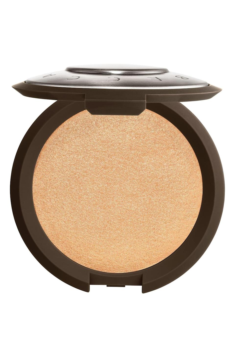 <p>The <span>Becca Shimmering Skin Perfector Pressed Highlighter in Champagne Pop</span> ($38) is majorly popular because it flatters a wide range of skin tones with high-impact shimmer.</p>