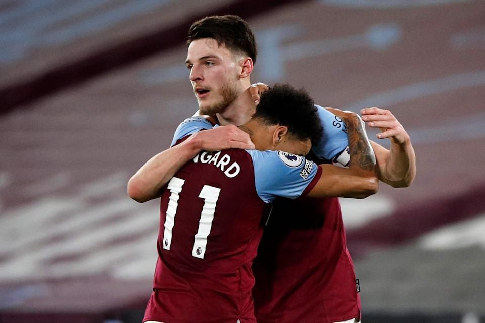 Declan Rice has welcomed Lingard and the two are firm friendsPOOL/AFP via Getty Images