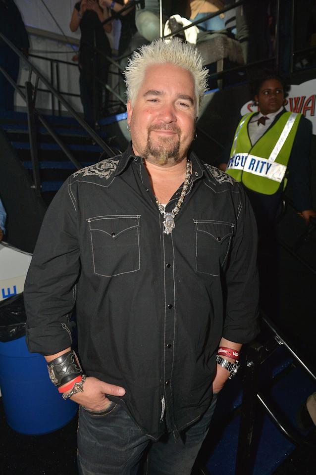 NEW ORLEANS, LA - FEBRUARY 01: Celebrity chef Guy Fieri attends the Rolling Stone LIVE party held at the Bud Light Hotel on February 1, 2013 in New Orleans, Louisiana.  (Photo by Gustavo Caballero/Getty Images for Rolling Stone)