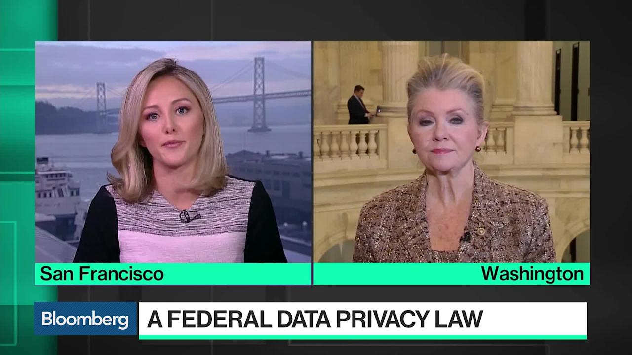 """Dec.04 -- U.S. Senator Marsha Blackburn, a Tennessee Republican, explains why she thinks a federal data privacy law is needed. She speaks during an interview with Bloomberg's Taylor Riggs on """"Bloomberg Technology."""""""
