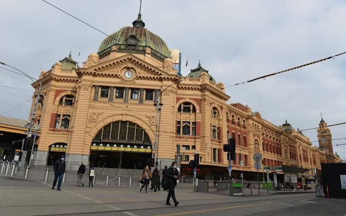 In Melbourne, the streets are almost empty after a recent rise in coronavirus cases - Anadolu Agency