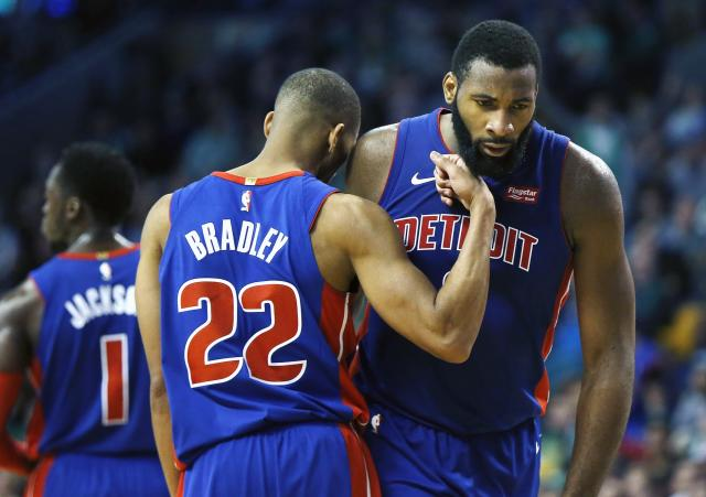 "<a class=""link rapid-noclick-resp"" href=""/nba/players/5015/"" data-ylk=""slk:Andre Drummond"">Andre Drummond</a> imposed his will on the East-leading Celtics. (AP)"