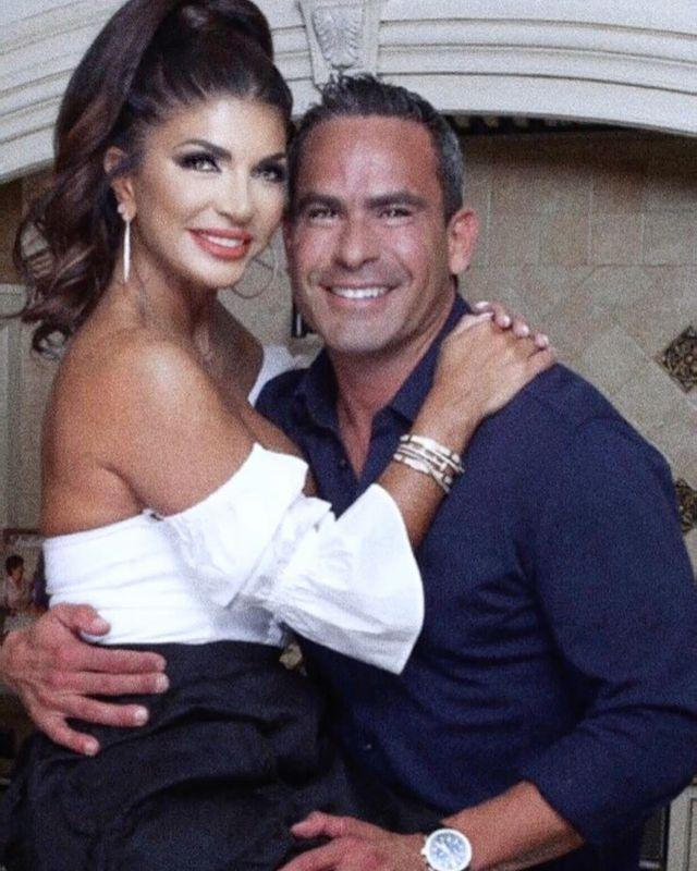 <p>The <em>Real Housewives of New Jersey</em> star shared a photo of her and her boyfriend Louie Ruelas, wishing her daughters and her followers a happy Valentine's Day.</p>