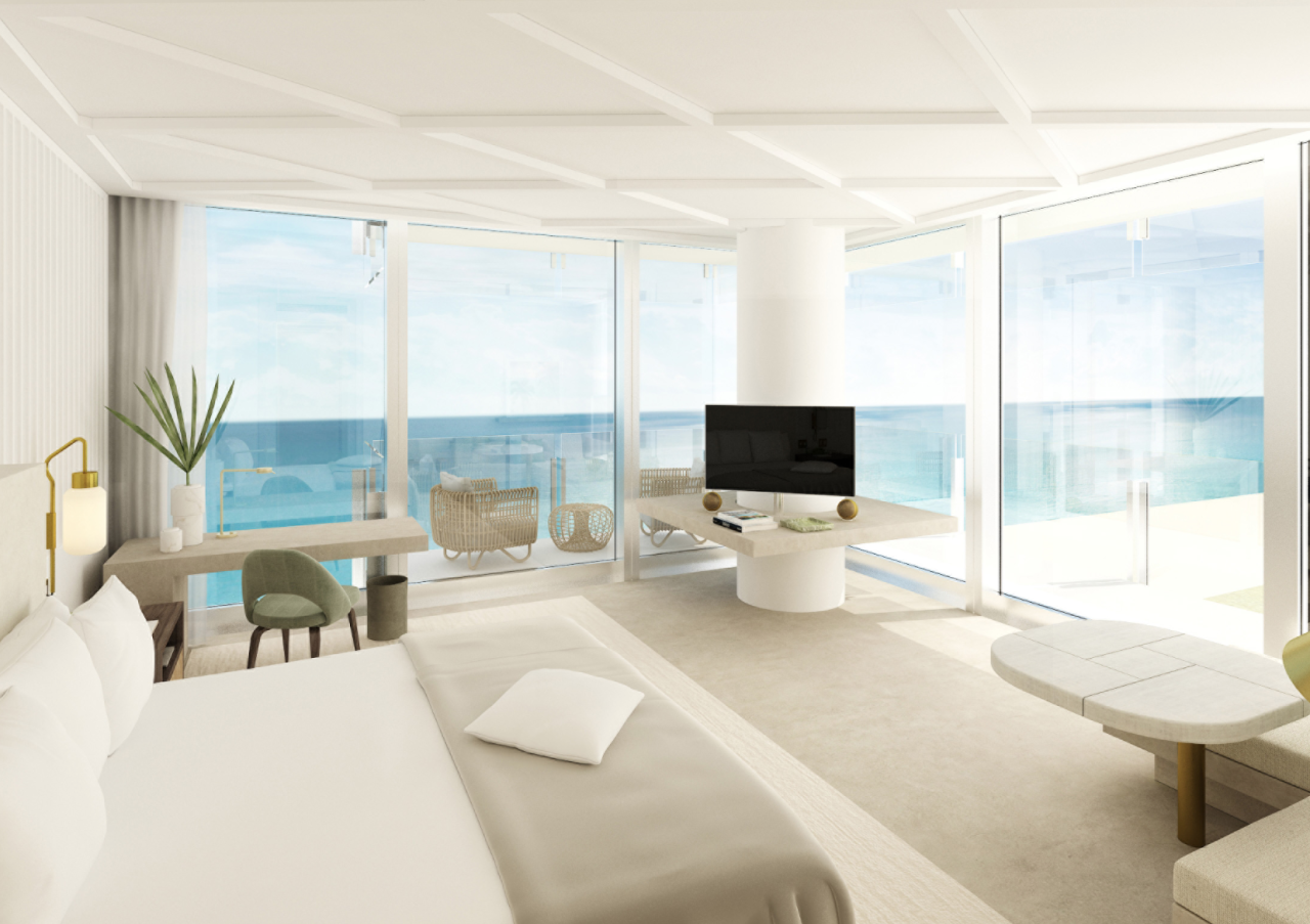 """<p><span>Swaying palm trees, lush tropical gardens and pristine white sand beaches - welcome to </span><a rel=""""nofollow"""" href=""""http://www.fourseasons.com/surfside/""""><span>Four Seasons Hotel at The Surf Club</span></a><span>, which is set in effortlessly cool Miami. As well as 77 rooms, there's a gorgeous spa, or you could sip a signature Mangareva cocktail in a cabana after a morning hitting the shops of nearby Bal Harbour. [Photo: Four Seasons] </span> </p>"""