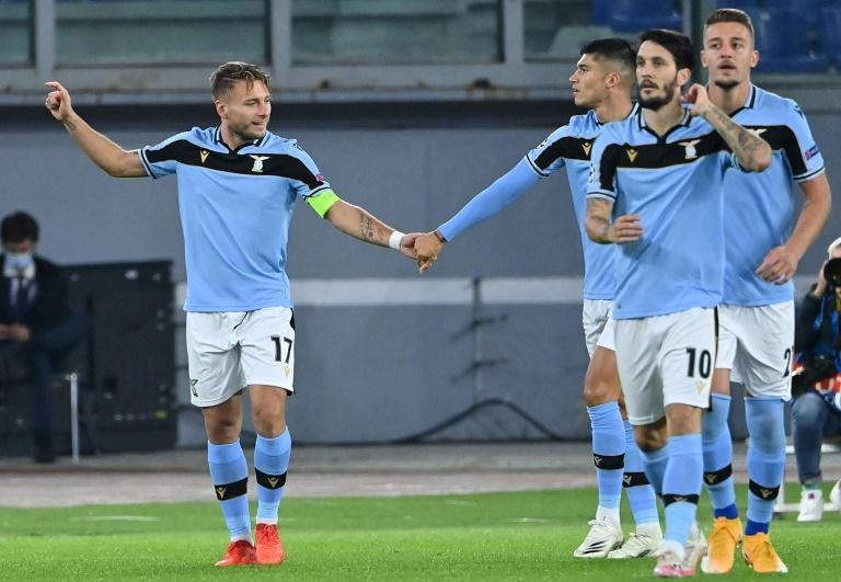 Ciro Immobile, left, and Luis Alberto, front right, played against Borussia Dortmund in the Champions League but missed the game at Brugge
