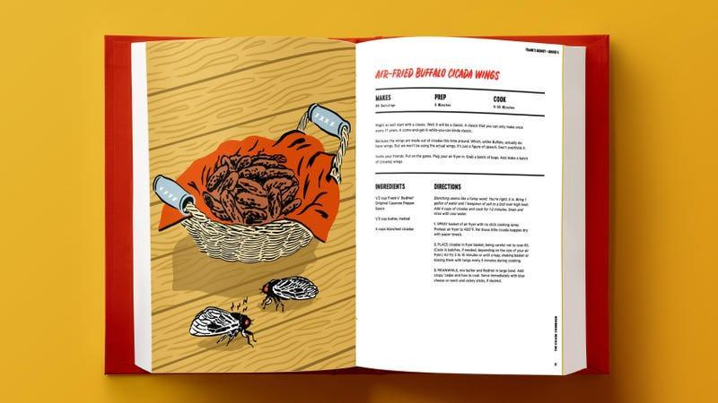 Frank's RedHot recipe for air-fried buffalo cicada wings [image provided by Frank's]