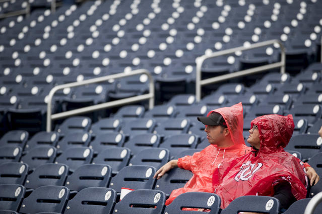 Washington Nationals fans working in the federal government will have one less payment to worry about while their paychecks are stalled. (AP Photo/Andrew Harnik)