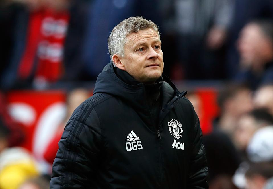 Manchester United manager Ole Gunnar Solskjaer during the Premier League match at Old Trafford, Manchester. (Photo by Martin Rickett/PA Images via Getty Images)