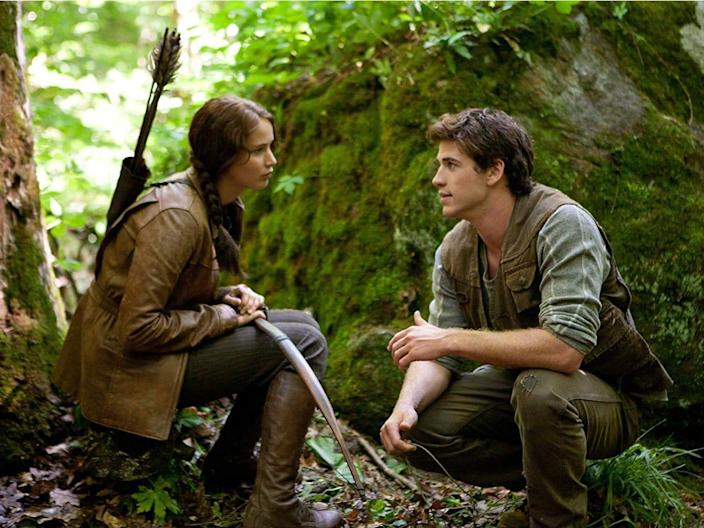 katniss and gale the hunger games
